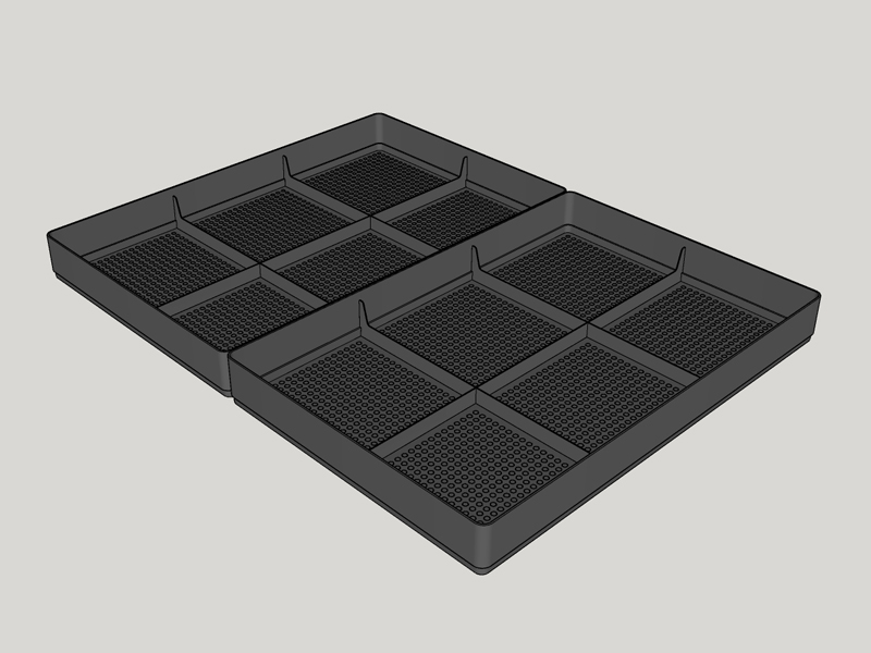 component of the sanwich unit - canna tray