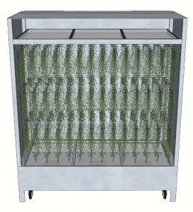 Hang Drying Rack - Products - Transparent view of a drying cart filled with hang drying carts