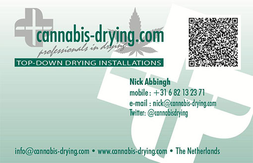 Contact us - Cannabis Drying Info Card